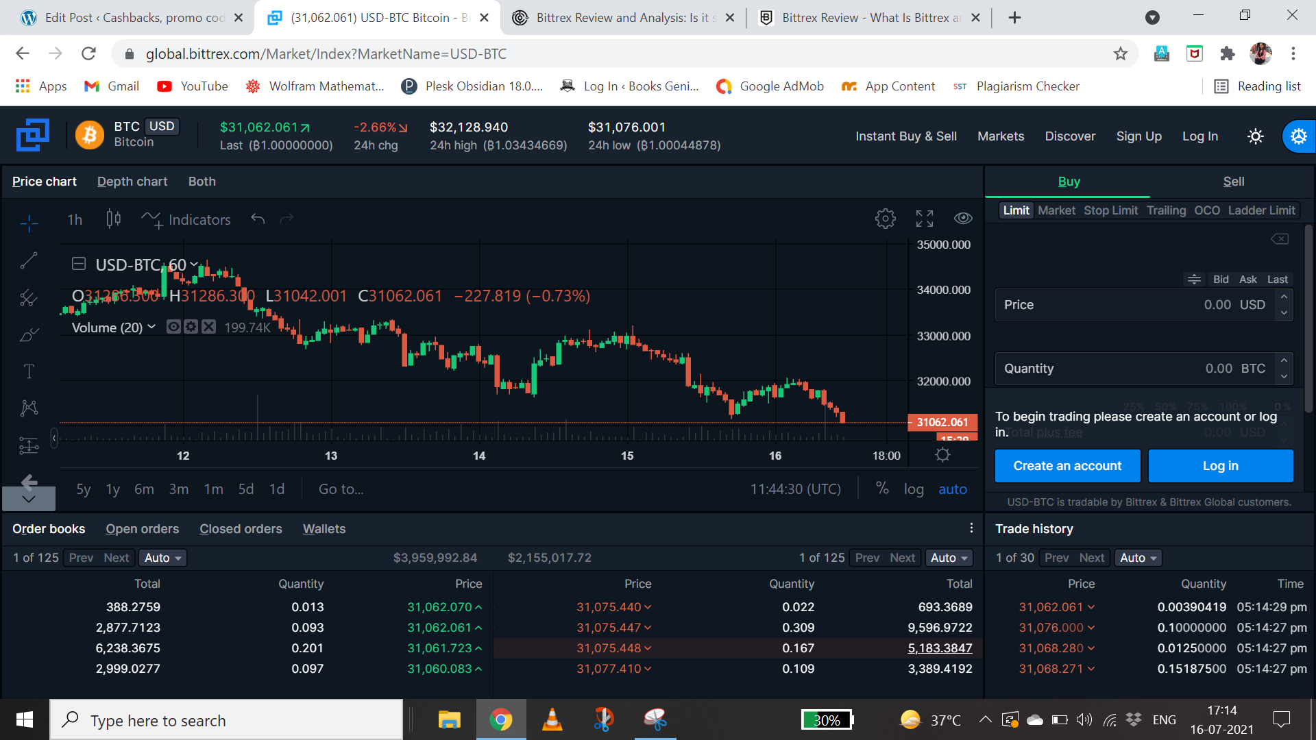 bittrex trading view